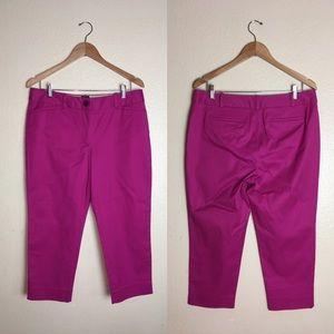 Talbots The Perfect Crop Purple Pants